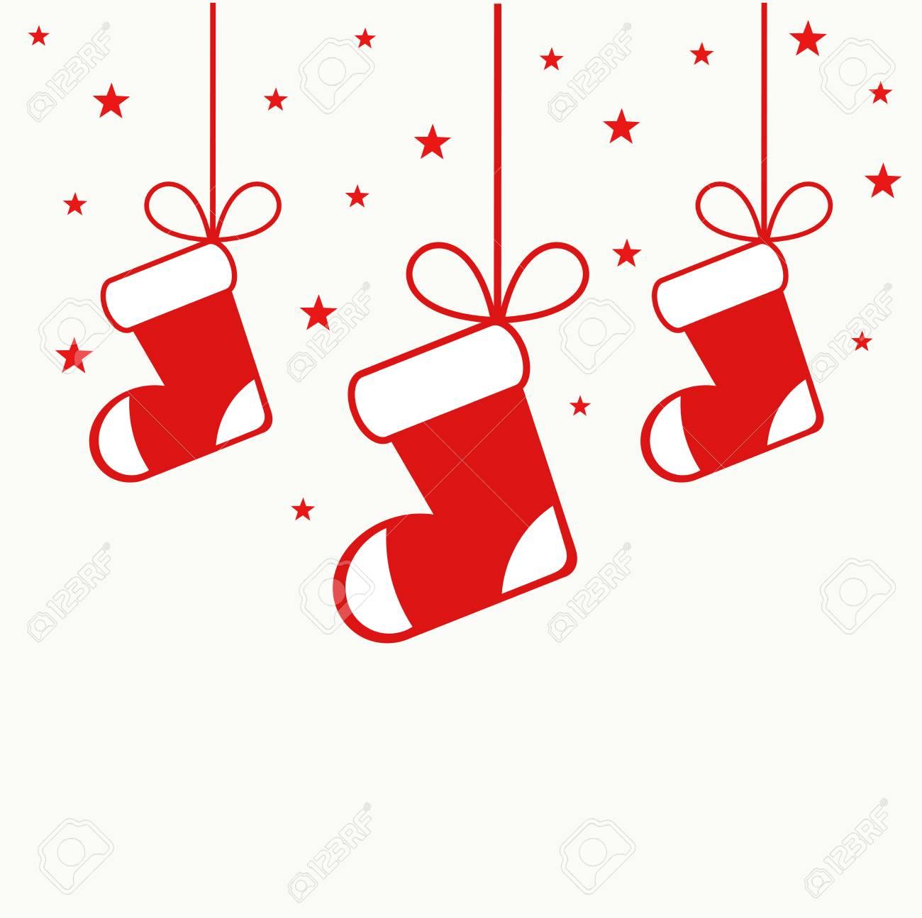 吊り飾りイラスト クリスマス ストッキングのイラスト素材 ベクタ Image 6791