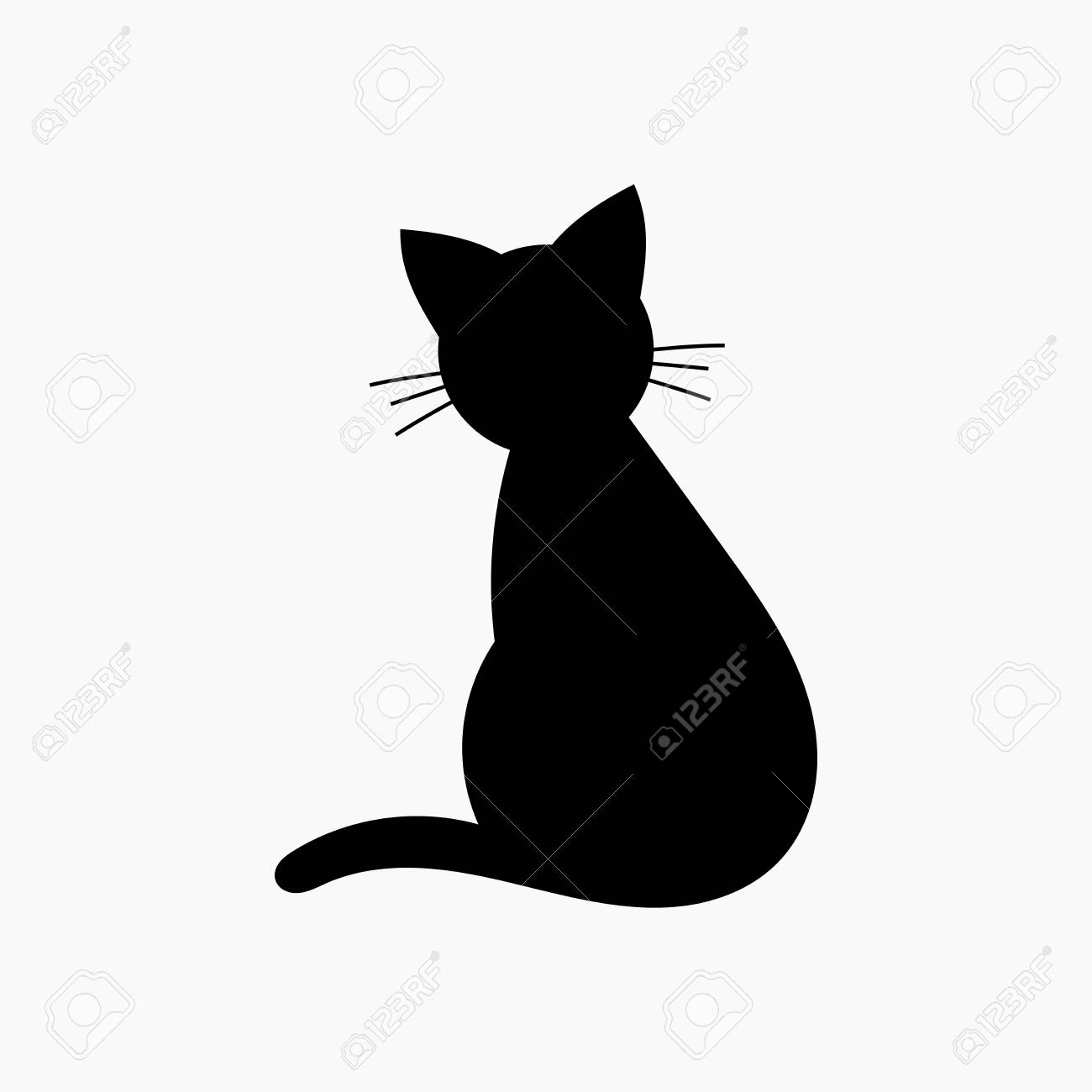 cat shape icon vector illustration stock vector 78904569
