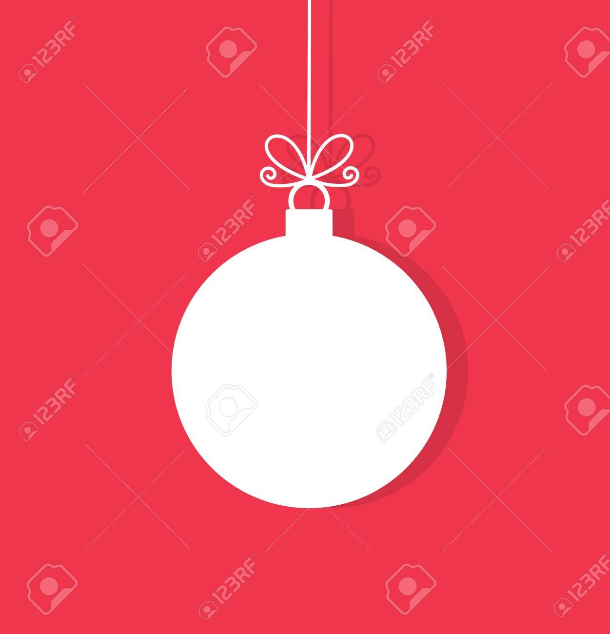 Christmas Ornament Vector.Christmas Ball Hanging Ornament Vector Illustration