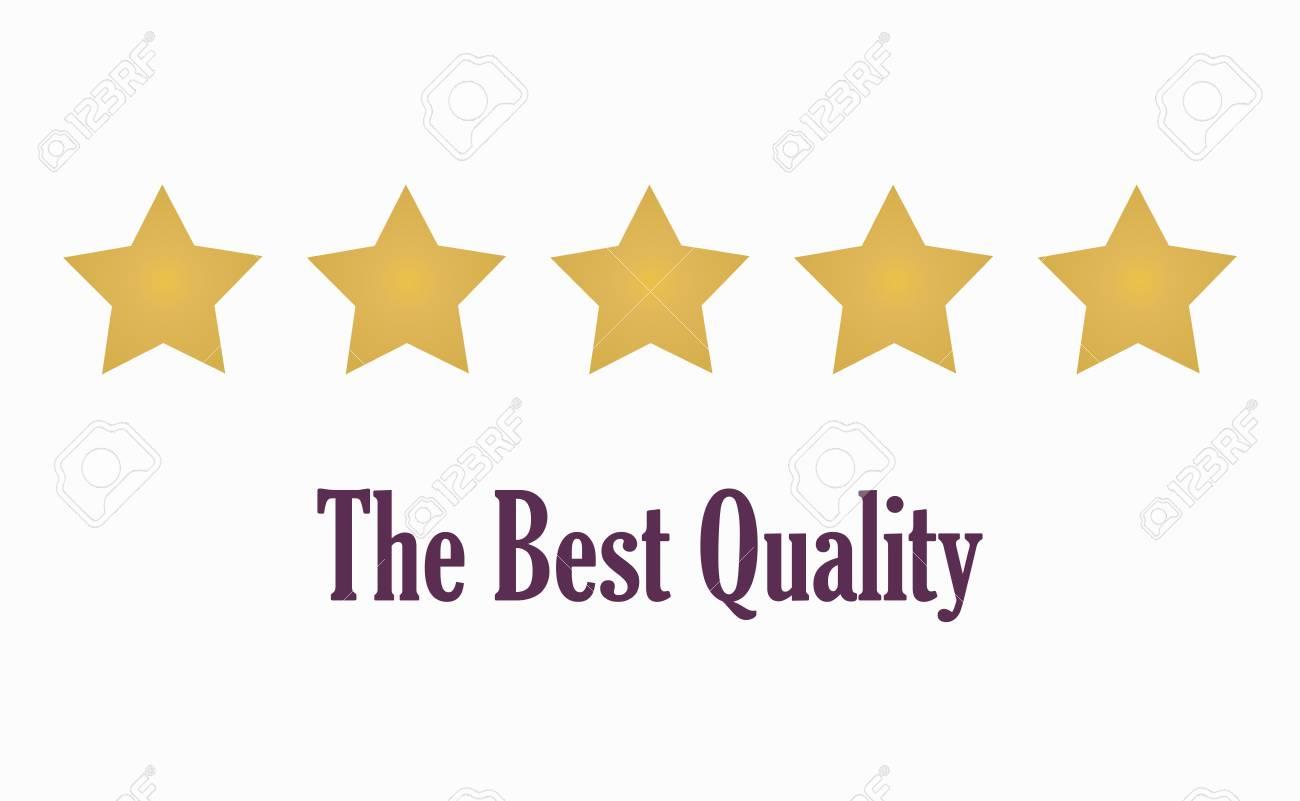 5 Gold Stars Symbol Of Quality Vector Illustration Royalty Free