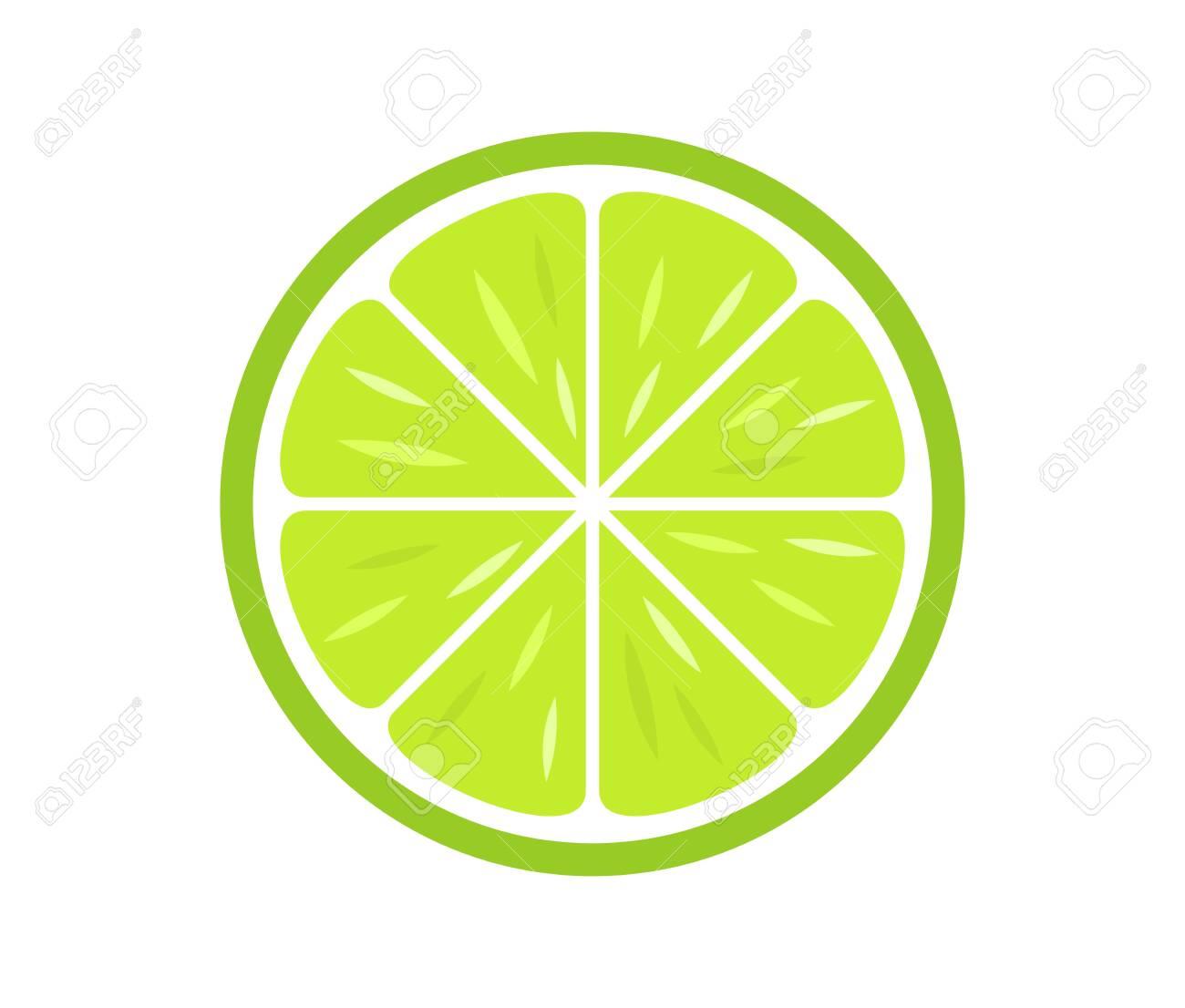 Green citrus lime slice icon. Vector illustration. - 141795535