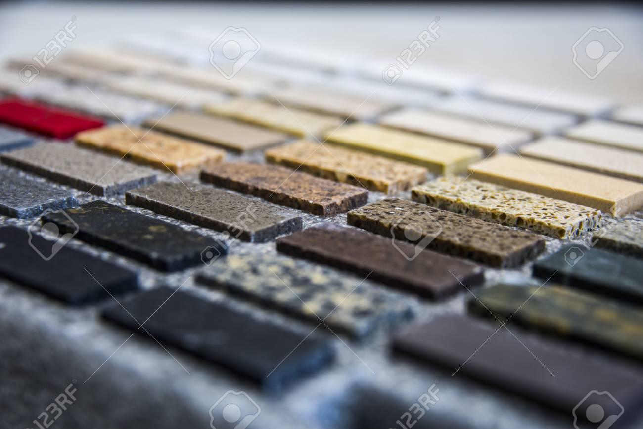 Kitchen counter sample color stone - 68136759