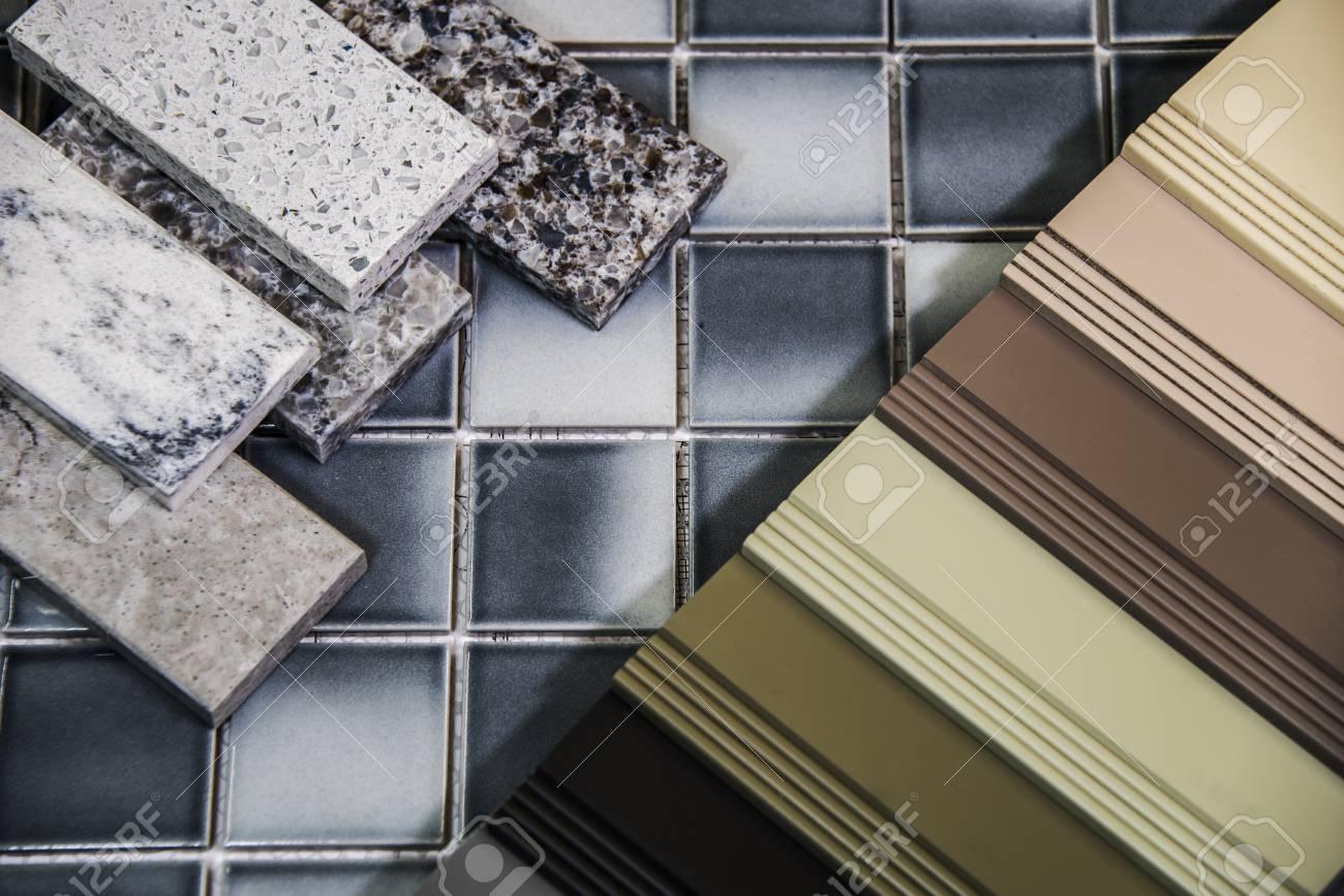 Küche Remodeli Materialauswahl. Boden, Bodenfliesen, Schränke ...