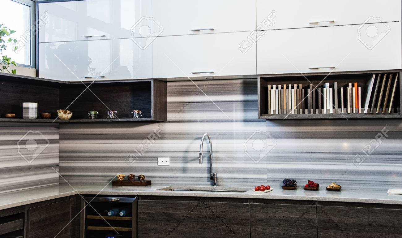 Modern Kitchen Design In 3 Different Style White Wall Kitchen Stock Photo Picture And Royalty Free Image Image 73846005