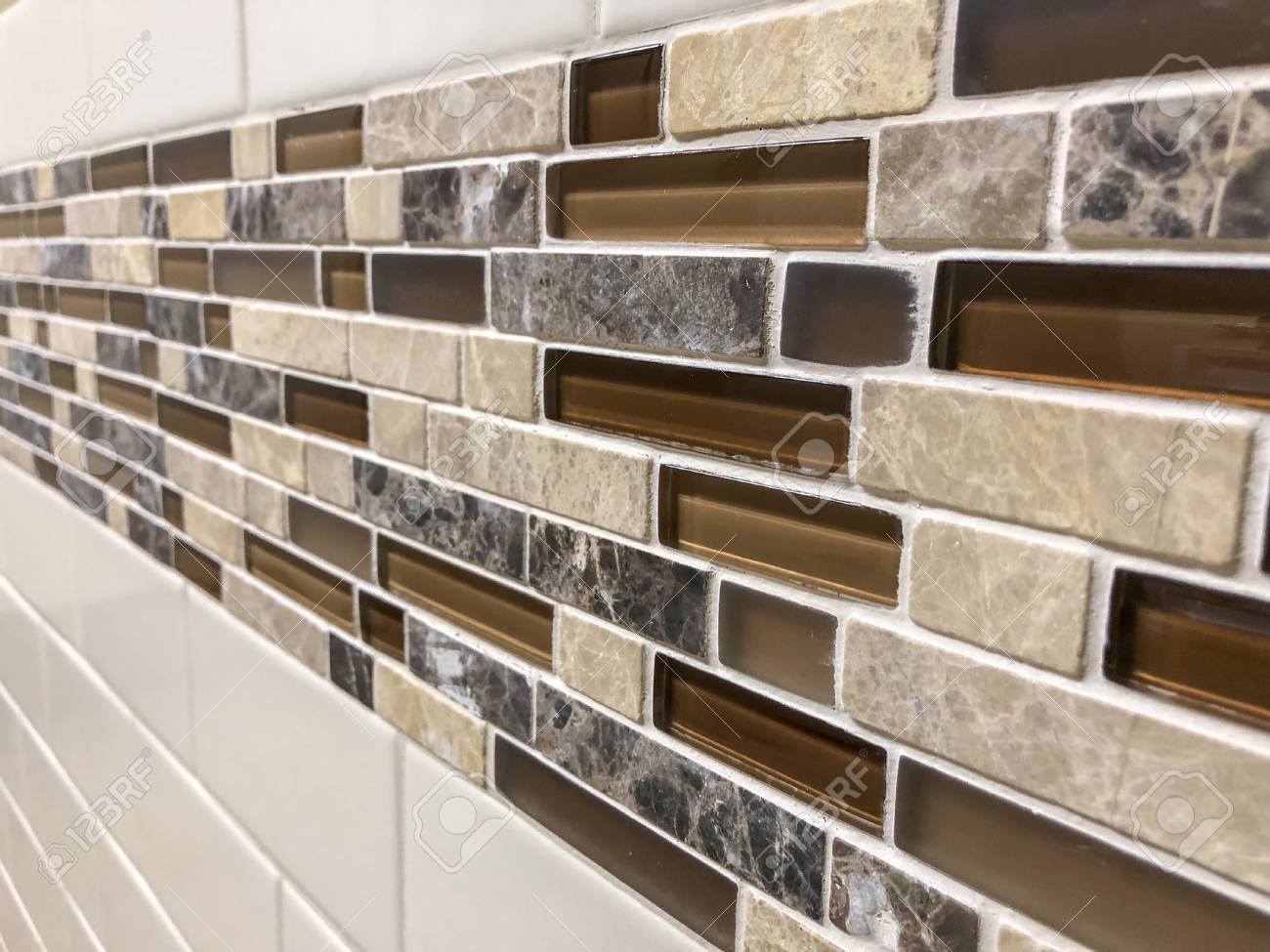 - Modern Decorative Glass And Stone Wall Backsplash For The Kitchen