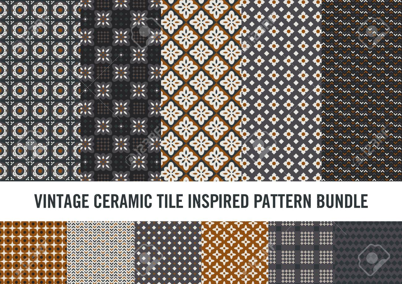 a82edffb30 Modern take on vintage ceramic tile inspired patterns. Sophisticated look  suitable for notebook covers