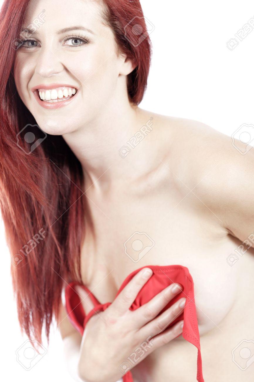 Sexy women taking off their bras