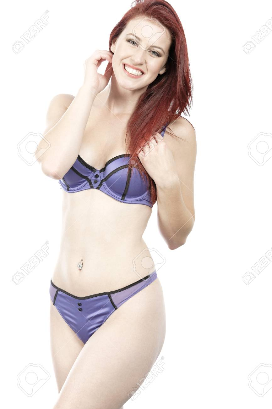 Attractive young woman in her underwear posing and having fun Stock Photo - 15465823
