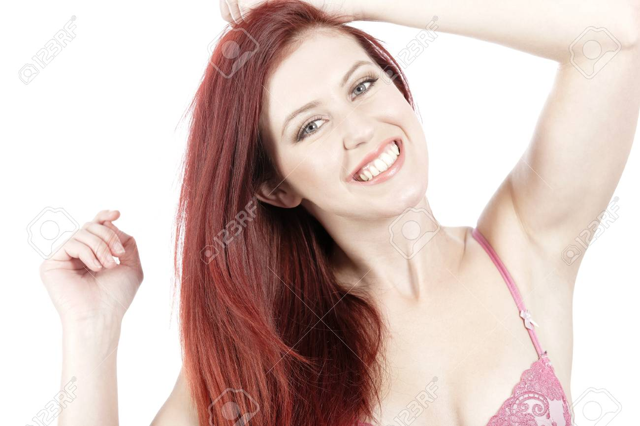 Attractive young woman in her underwear posing and having fun Stock Photo - 15444308