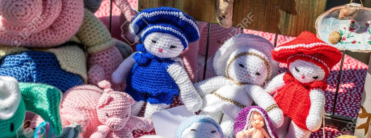 Granny Handmade Crochet Soft Fabric Toys Or Rag Dolls For Decoration