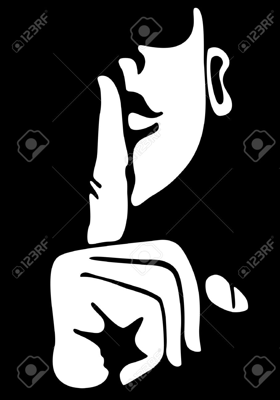 Gesture with finger on lips Stock Vector - 6767648