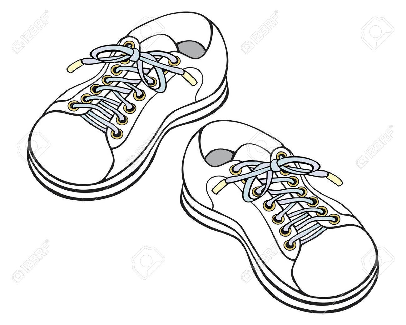 Childrens Sneakers Royalty Free