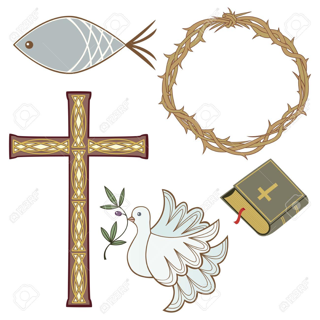 Collection of 5 different christian symbols royalty free cliparts collection of 5 different christian symbols stock vector 9544044 buycottarizona