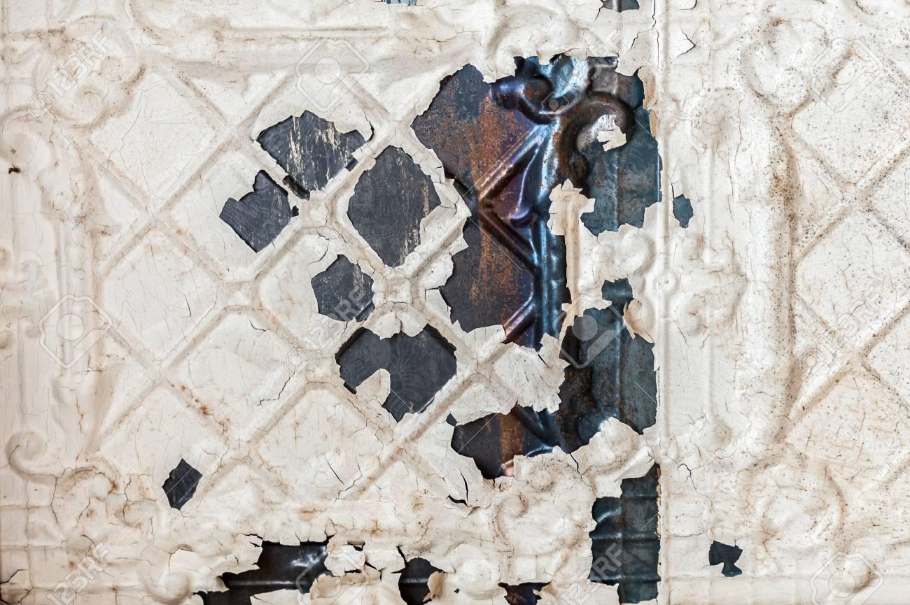 Perfect Vintage Texturen: Alte Tapeten, Peeling Farbe, Mauer Und Schichten Von  Verschiedenen Bunten Hintergründen