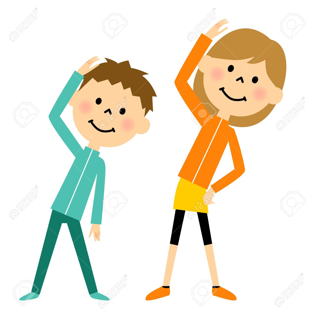 Warm-up Exercises To Children Royalty Free Cliparts, Vectors, And ...