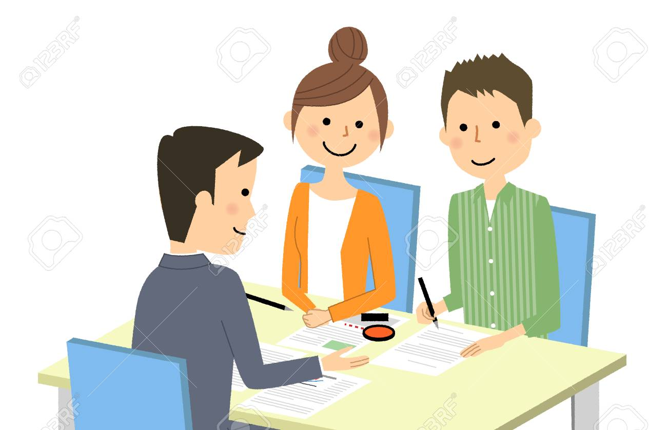 Meeting and signing a contract - 99830328