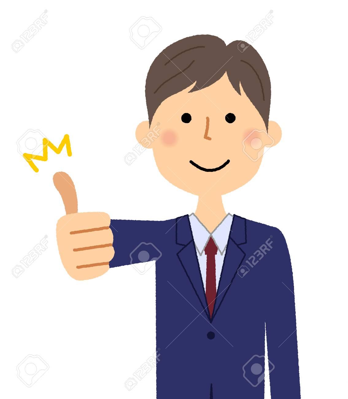 Businessman, Thumbs up - 112656697