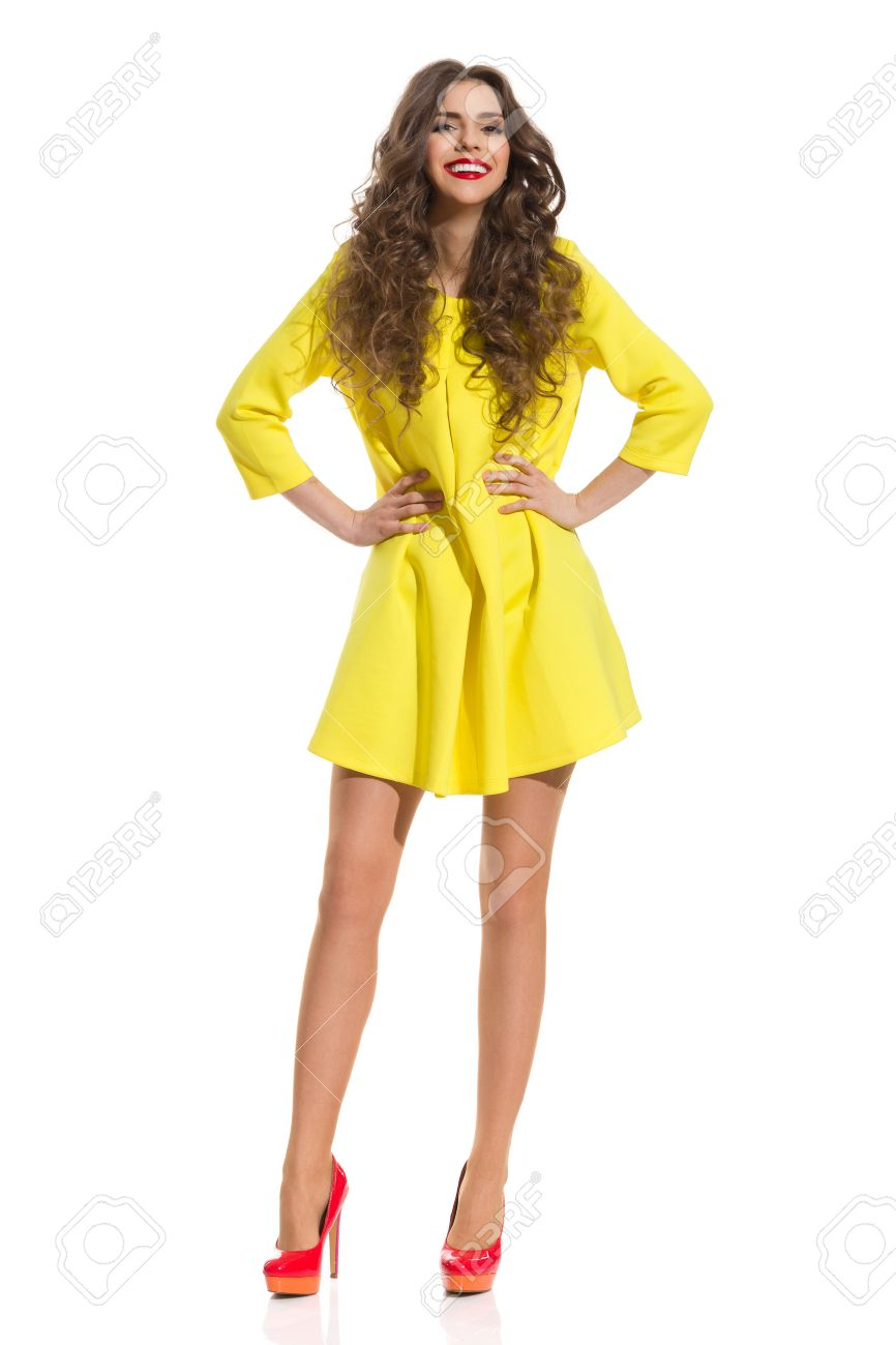 Heels With Yellow Dress