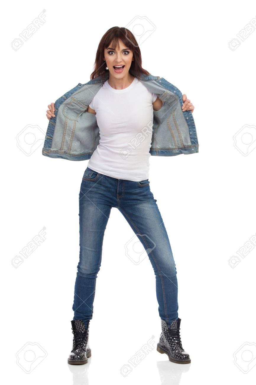 best loved c102d e4f42 Isolato Jeans Integrale Donna Sbottonata Bella GridandoColpo ...