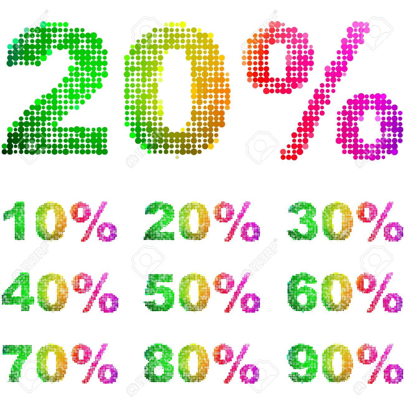 Discount element templates with different percentages Stock Vector - 6084476