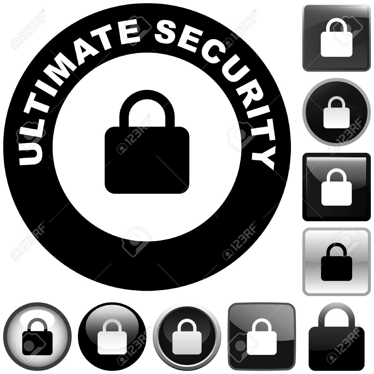 Lock icon. Vector set for web. Stock Vector - 6084074