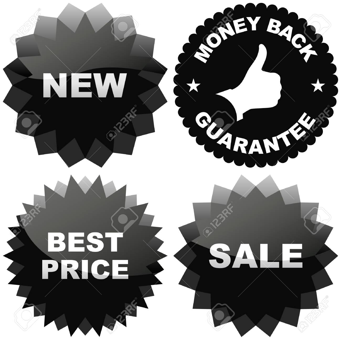 Set of design elements for sale. Stock Vector - 6083958