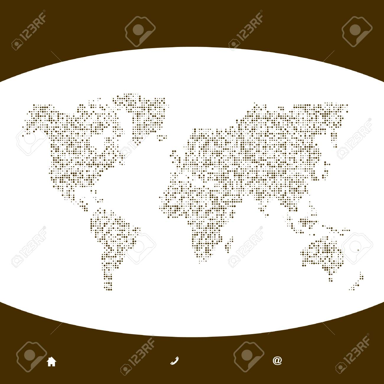 Vector map of the world. Business background. Stock Vector - 6085402