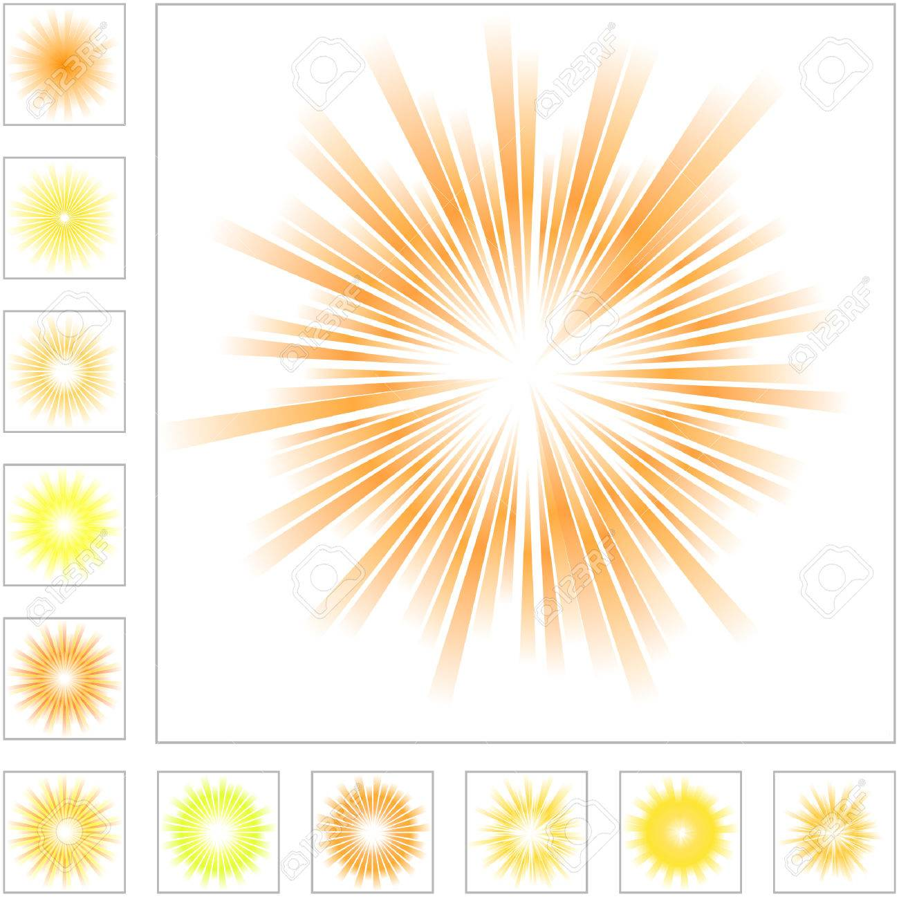 Sunburst abstract vector.  Vector great collection. Stock Vector - 6085395