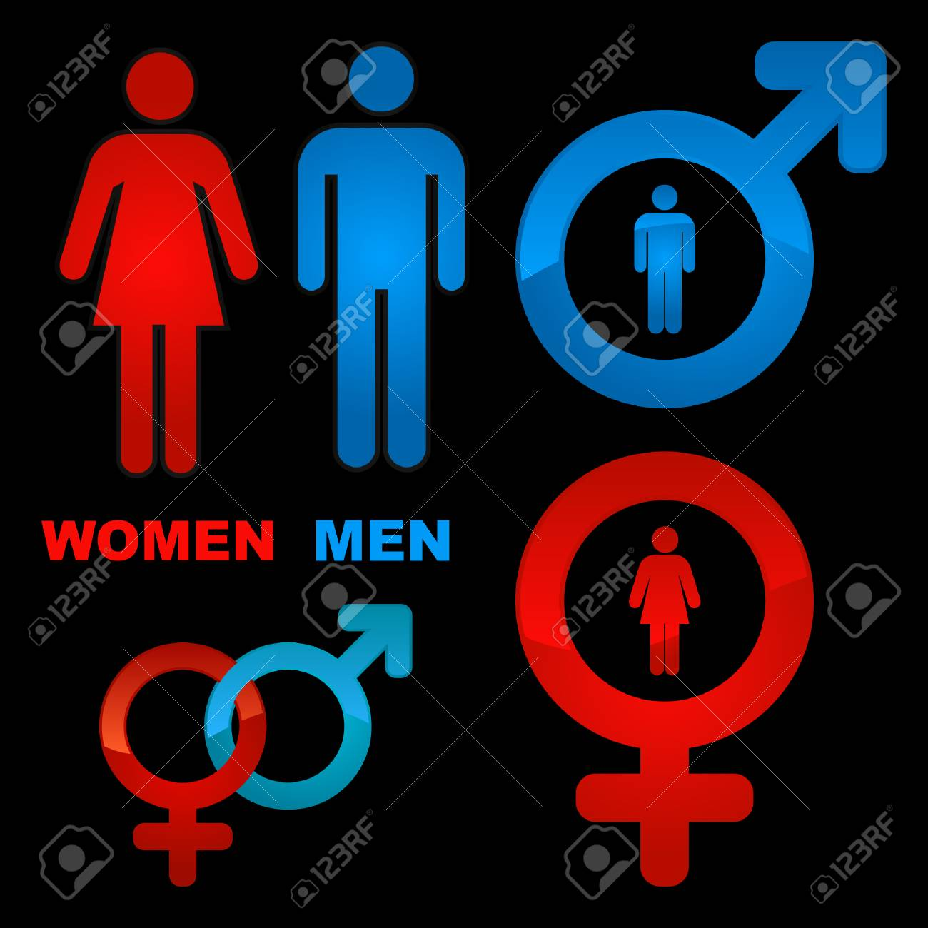 Men and women icons. Graphic elements set.    Stock Photo - 6084681