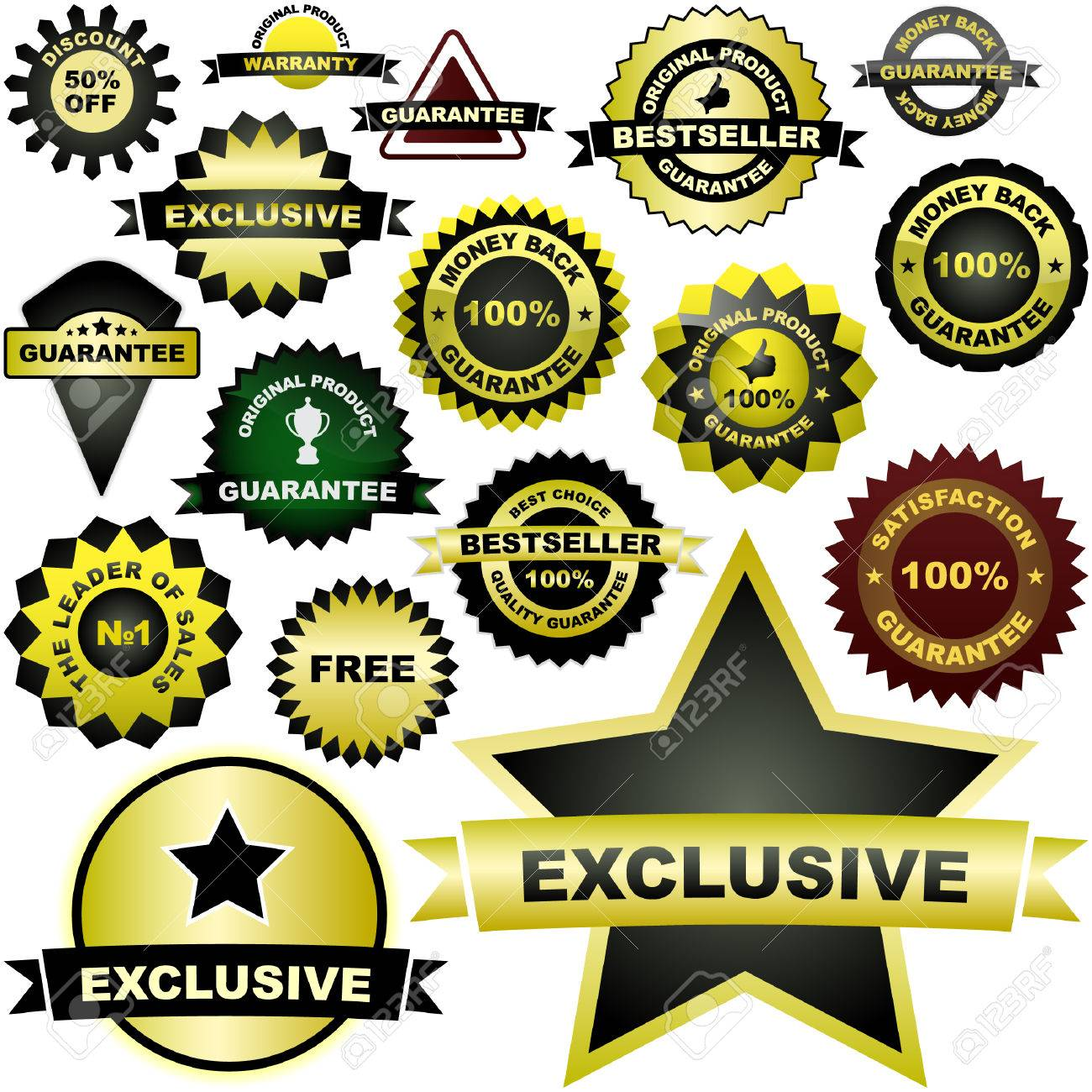 Set of design elements for sale. Great collection. Stock Vector - 6085299