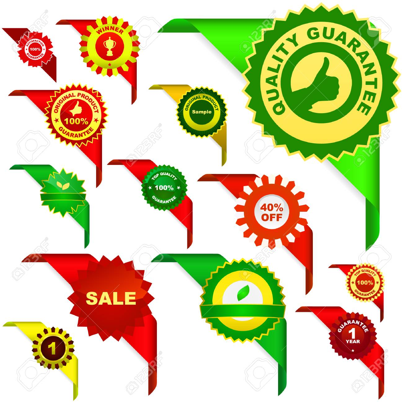 Set of vector corner ribbons for sale. Great collection. Stock Vector - 6085341