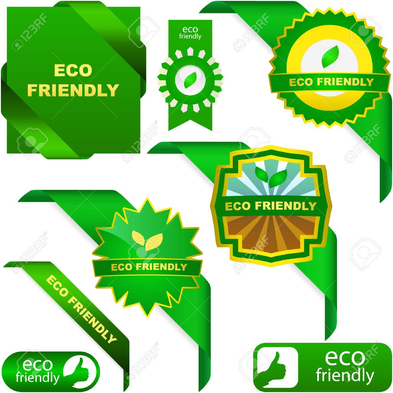 Set of natural labels. Great collection. Stock Vector - 6098051