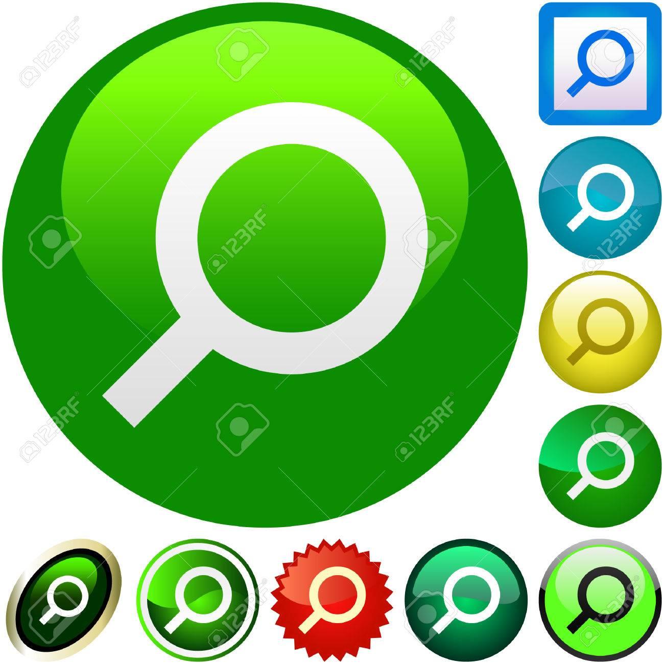 Vector search icons. Vector set. Stock Vector - 6095524