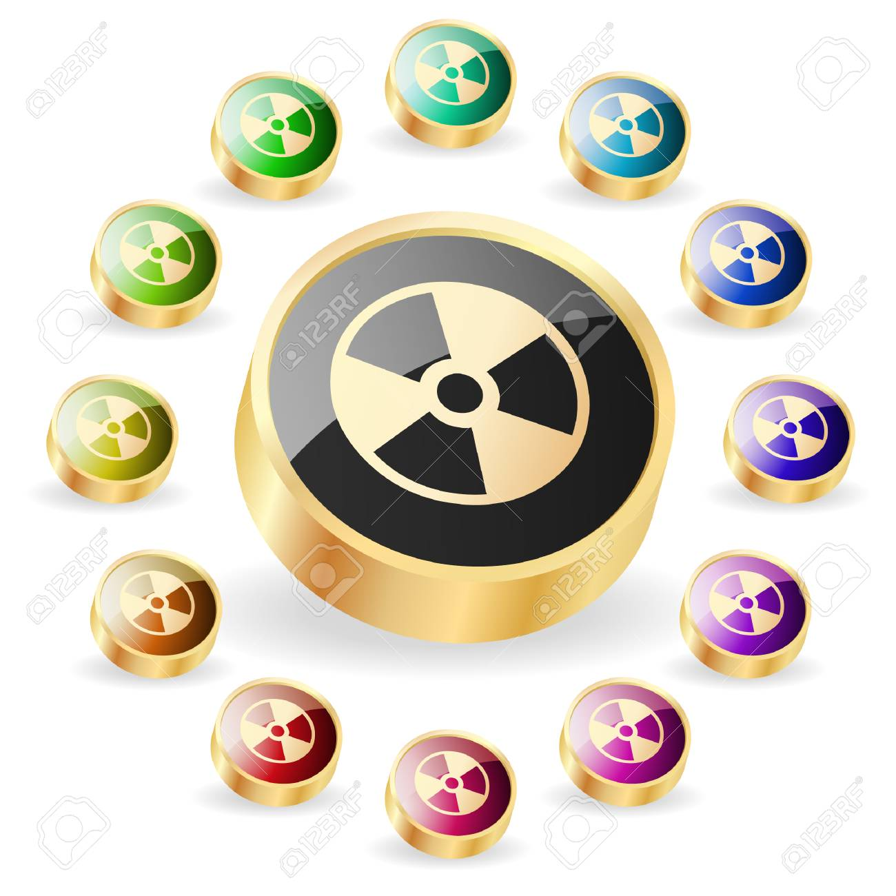 Alert button. Vector set. Stock Vector - 6331845