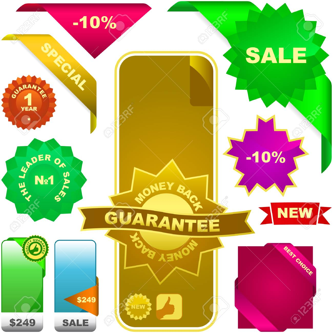 Set of design elements for sale. Stock Vector - 6331737