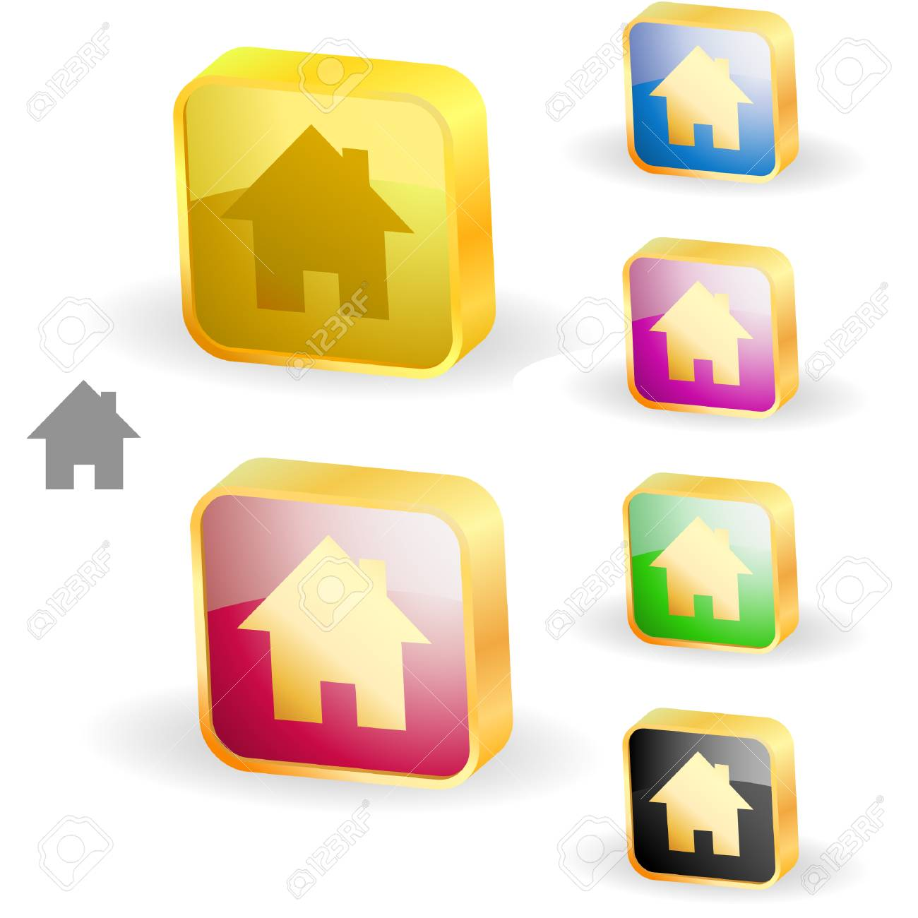 Home icons. Graphic elements set. Stock Vector - 6331566