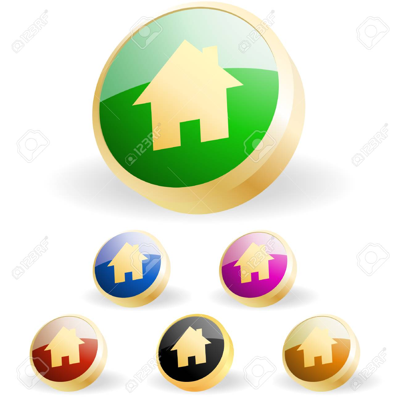 Home icons. Graphic elements set. Stock Vector - 6331684