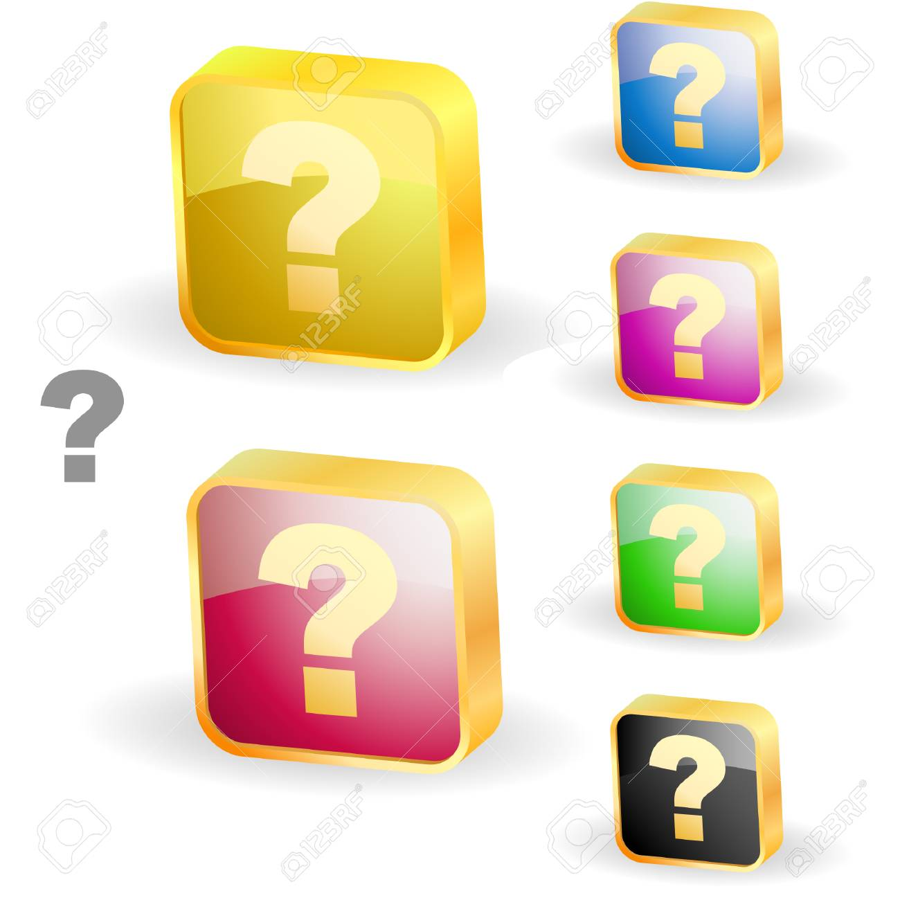 Question vector elements. Stock Vector - 6331564