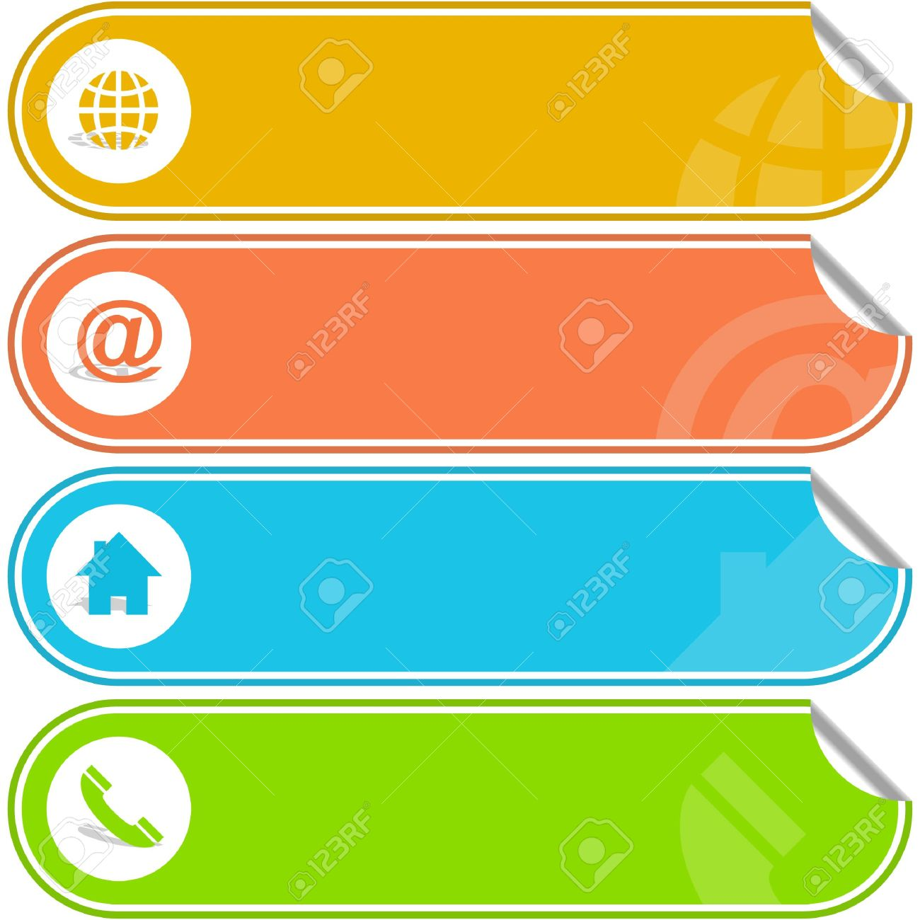 Contact elements for design. Stock Vector - 6549319