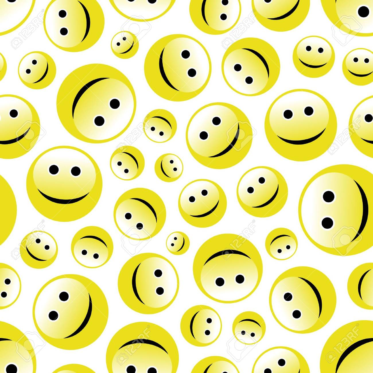 Seamless pattern with smile face. Stock Vector - 6877212