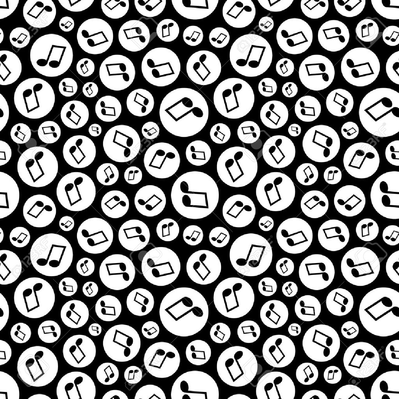 Seamless pattern with music notes. Stock Vector - 6877259