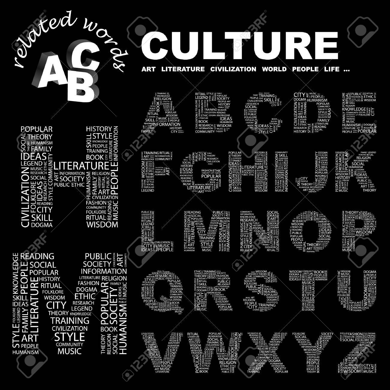 CULTURE.  letter collection. Word cloud illustration. Stock Vector - 6920589