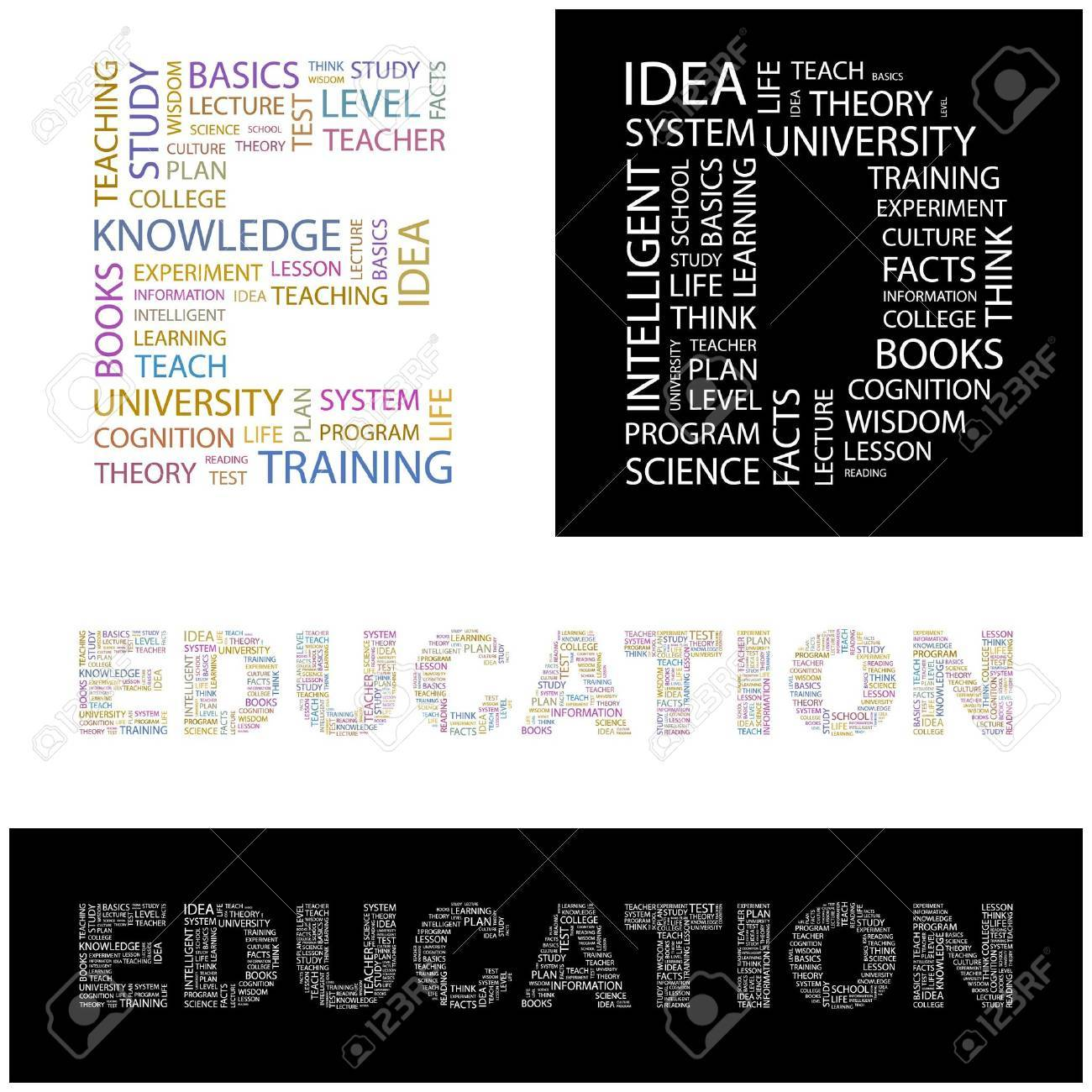 EDUCATION. Word collage.  illustration. Stock Vector - 6919441