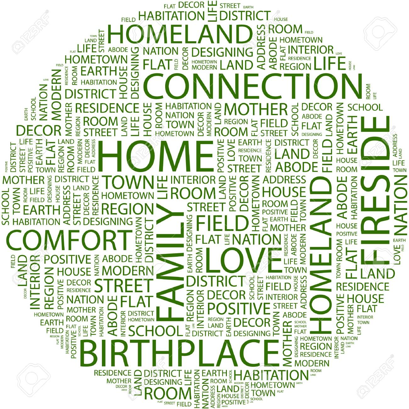HOME. Word collage on white background. Stock Vector - 7031540