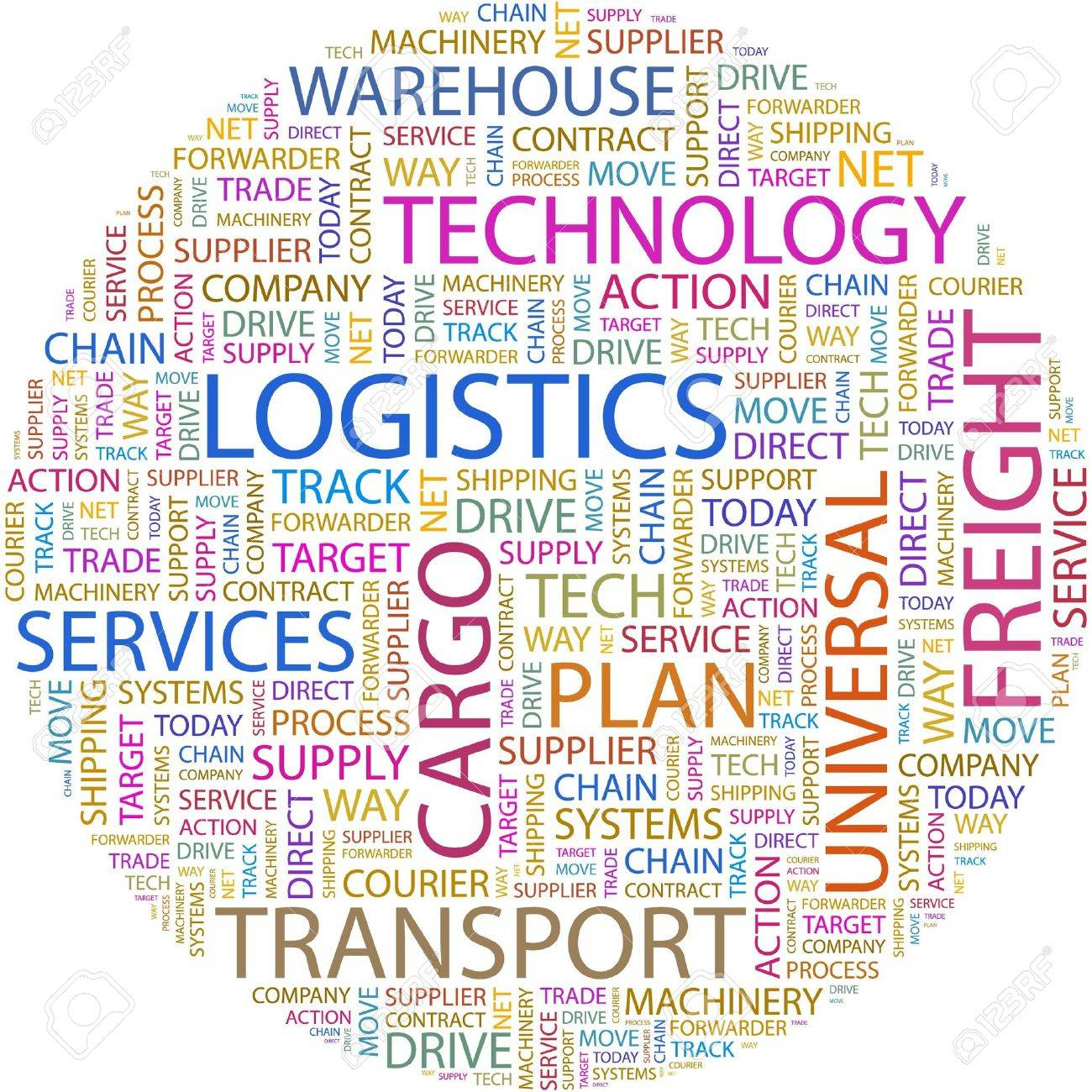 LOGISTICS. Word collage on white background. Stock Vector - 7066672