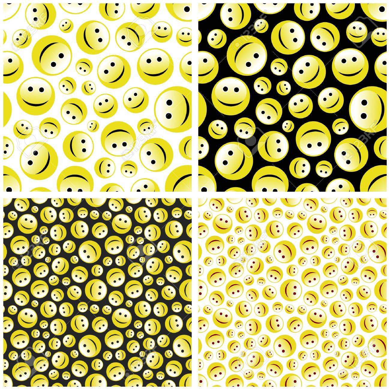 Seamless pattern with smile face. Stock Vector - 7093909