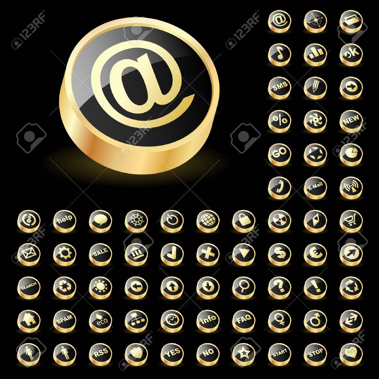 Great collection of web buttons. Stock Vector - 7093917
