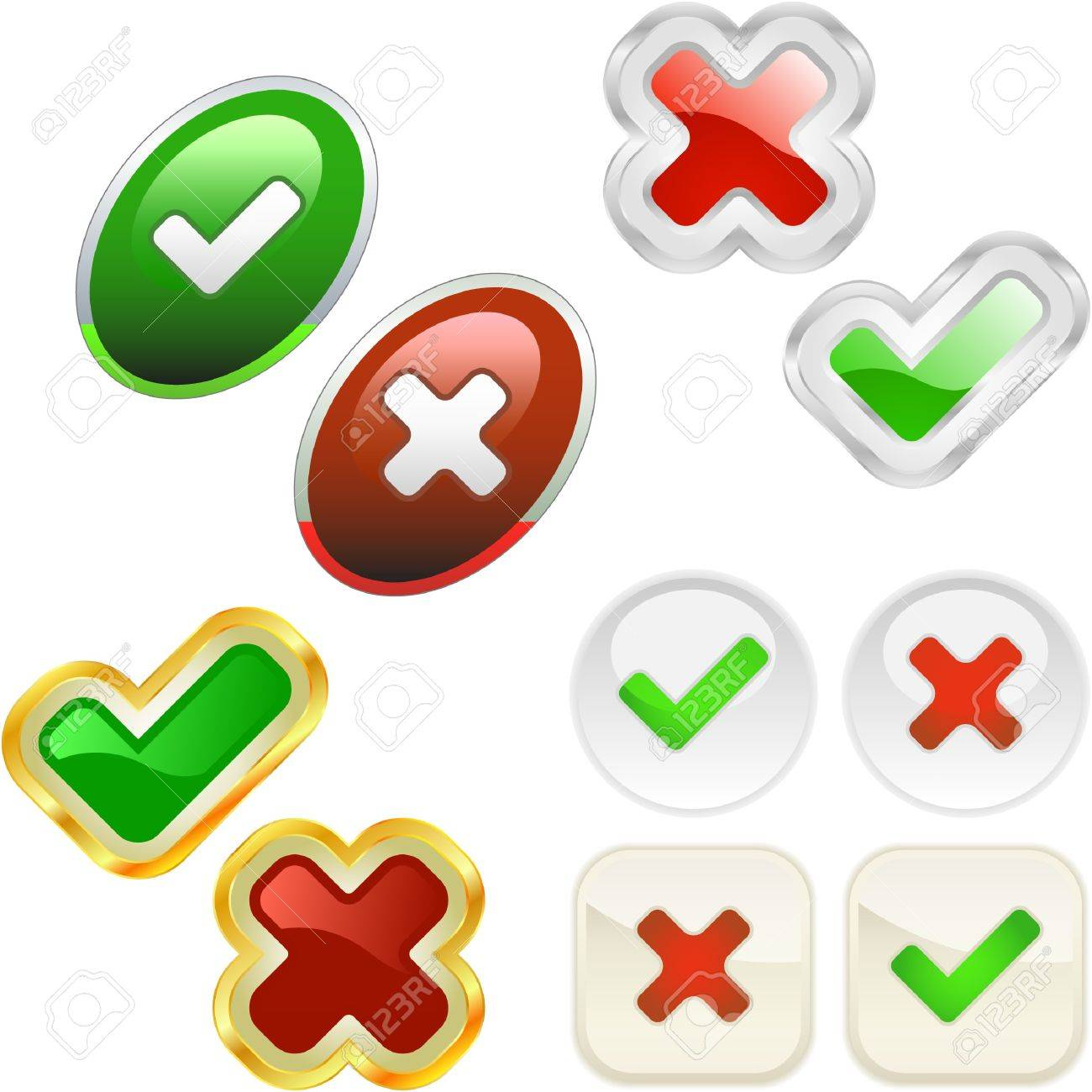 Approved and rejected buttons. - 7243201