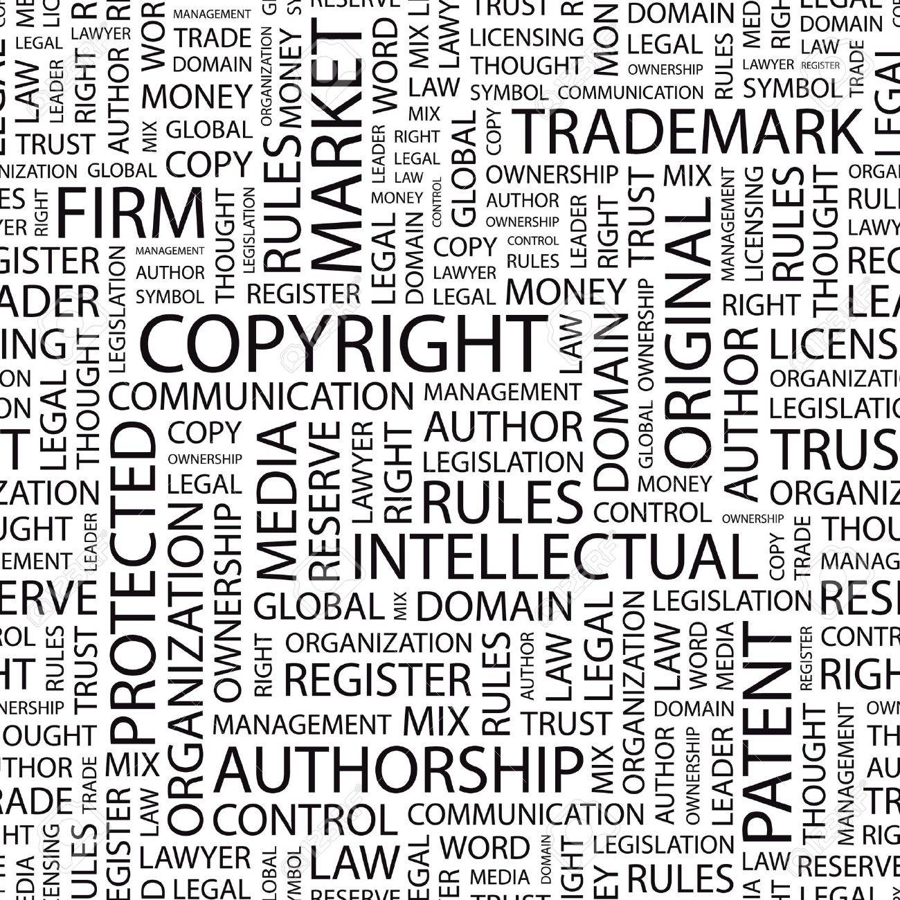 COPYRIGHT. Seamless background. Word cloud illustration. - 7331036