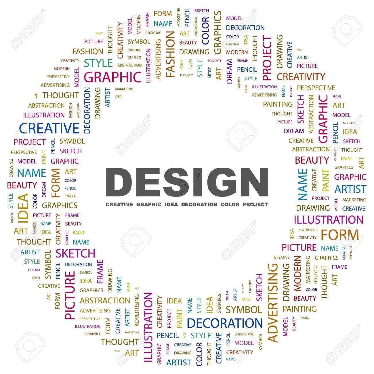 DESIGN. Word collage on white background.  illustration. Stock Vector - 7340041